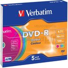 DVD-R  VERBATIM/5ks   16x Color,slim box